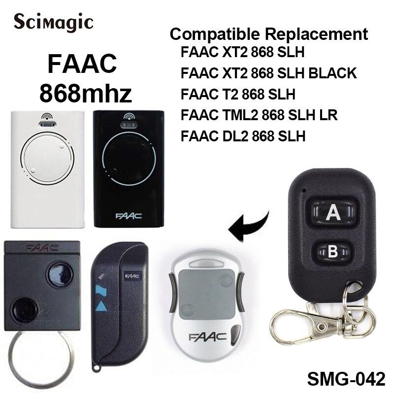 FAAC Garage Door Remote Control FAAC Remote Garage Rolling Code FAAC 868 SLH Door Remote Compatible FAAC XT2 868 SLH T2 868SLH