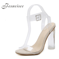 FESNEISEE 2018 Transparent High Heels Women Shoes Summer Pumps Free Mail Clear Material Shoes Woman Sandals