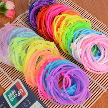 2017 Hot New Women Adult Solid Fashion Luminous Silicone Bracelet Hair Ring Rope Rubber Band 10 Colors Free Delivery