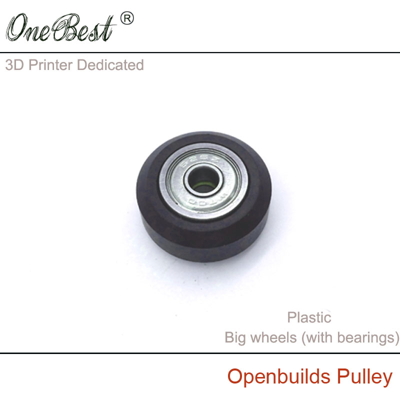 3D Printer Accessories Plastic pulley Openbuilds Passive Pulley  Perlin Wheel 625Z  POM Big wheels (with bearings) Free Shipping