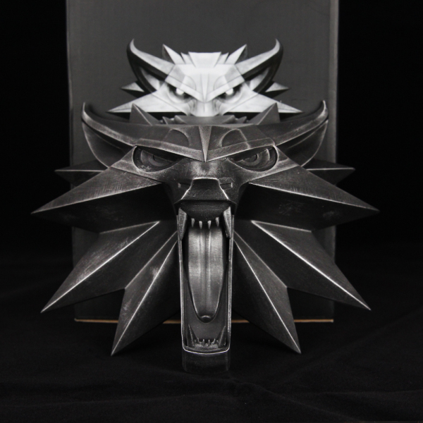 Game The Witcher 3 Wild Hunt Wolf Head Wall Sculpture Resin Statue Collection Figure Toys электронная версия для xbox microsoft the witcher 3 wild hunt game of the year edition