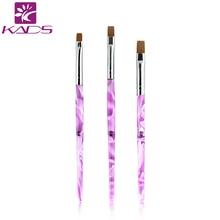 Sistema de desarrollo de CONOCIMIENTOS 1 unid 6 # rosa Decoraciones Gel Pen Pintura de Uñas Cepillo de Uñas Profesional Equipo de Herramienta de Dibujo