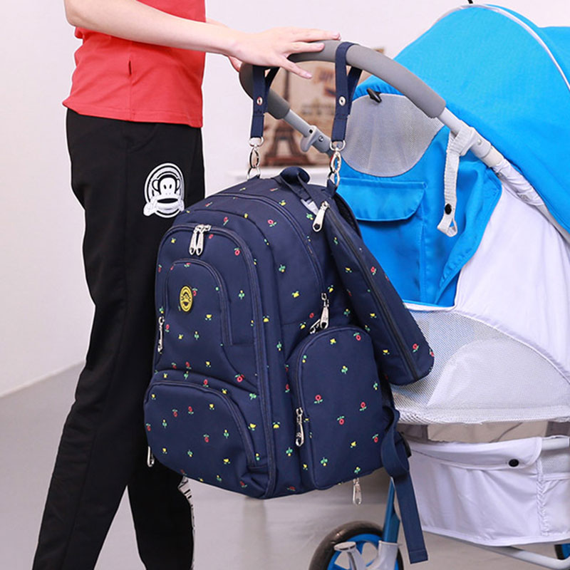 QIMIAOBABY Large Capacity Diaper Bag Backpack Nappy Bag Maternity Bag Waterproof Multifunctional For Baby Stroller