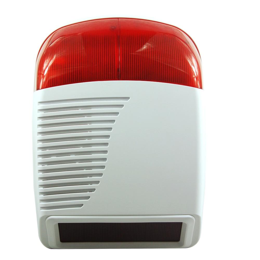 bilder für Freies Verschiffen 433 Mhz Drahtlose Wasserdichte Solar Power Externe Außen Strobe Sirene Für Alarmanlage AG sicherheit
