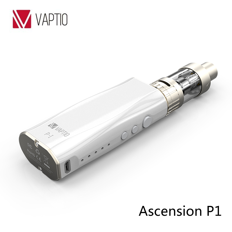 Vaptio P1 starter kit 50W VV box mod vaporizer vape pen GOLD&WHITE&BLACK Newest electronic cigarette yiloong vape geyscano box 50w bf mod kit