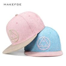 SnapBack NY triángulo redondo marca bordado gorra de béisbol ala plana hip  hop juventud gorra y 42b3d407284