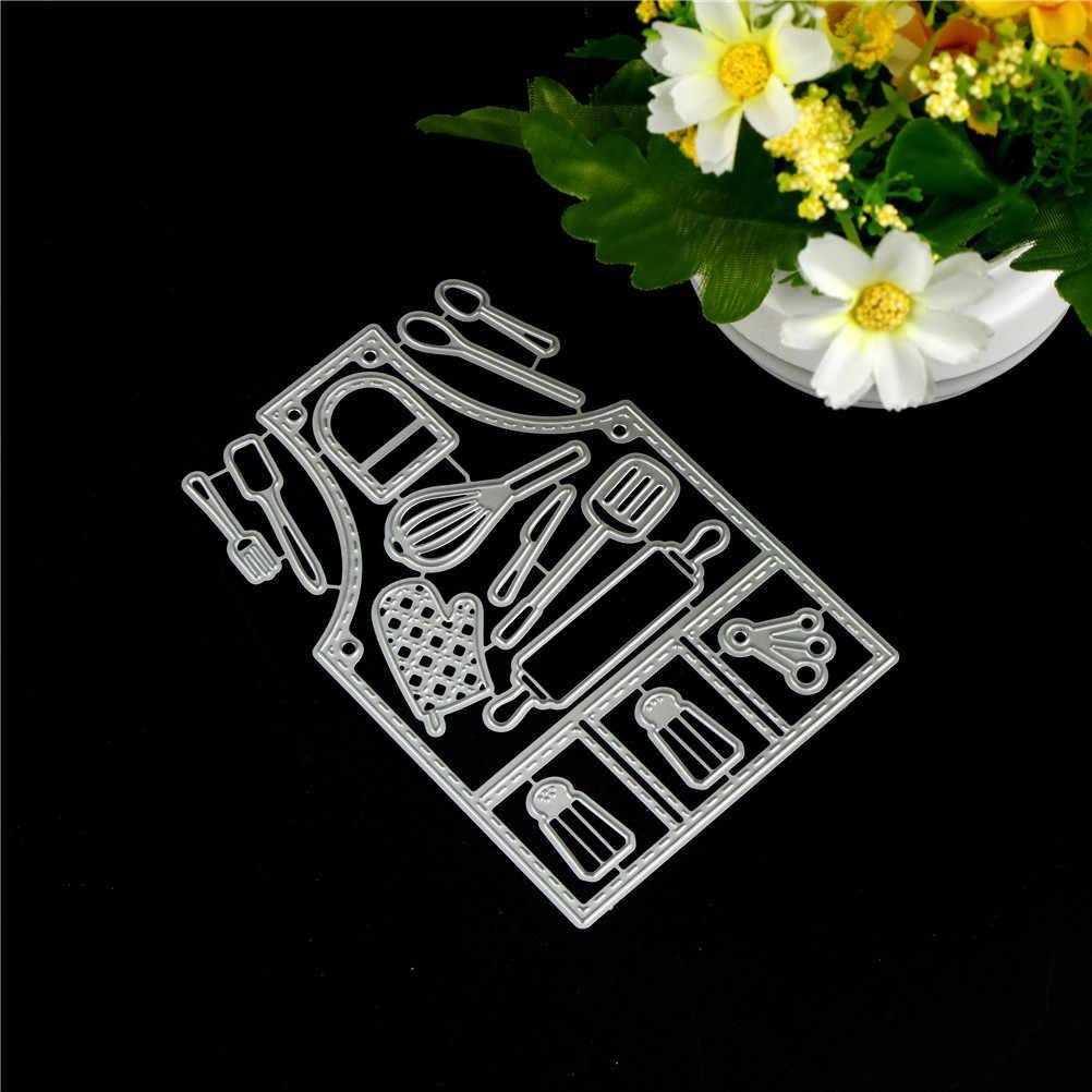 ร้อน 14 pcs ชุดเครื่องมือครัวตัดโลหะตายสำหรับ Scrapbooking DIY คาร์บอน SHARP Scrapbooking Dies อัลบั้มภาพการ์ดศิลปะตายตัด