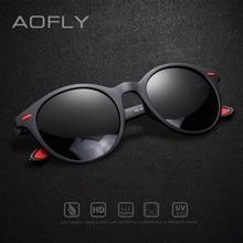 AOFLY تصميم العلامة التجارية الرجال النظارات الشمسية الاستقطاب البيضاوي الإطار النظارات الشمسية النساء الرجال Vintage للجنسين نظارات Oculos De Sol AF8112