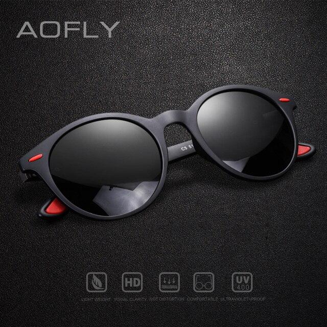 AOFLY מותג עיצוב גברים משקפי שמש מקוטב סגלגל מסגרת משקפי שמש נשים גברים בציר יוניסקס משקפי Oculos דה סול AF8112