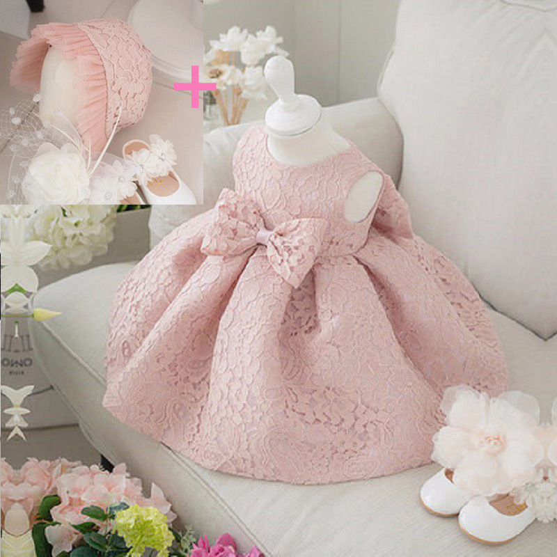 New Baby Girl Birthday Dress Ball Gown Christening Dresses 1 Year Girl Baby Birthday Dress Baby Girl Dress 6BY032