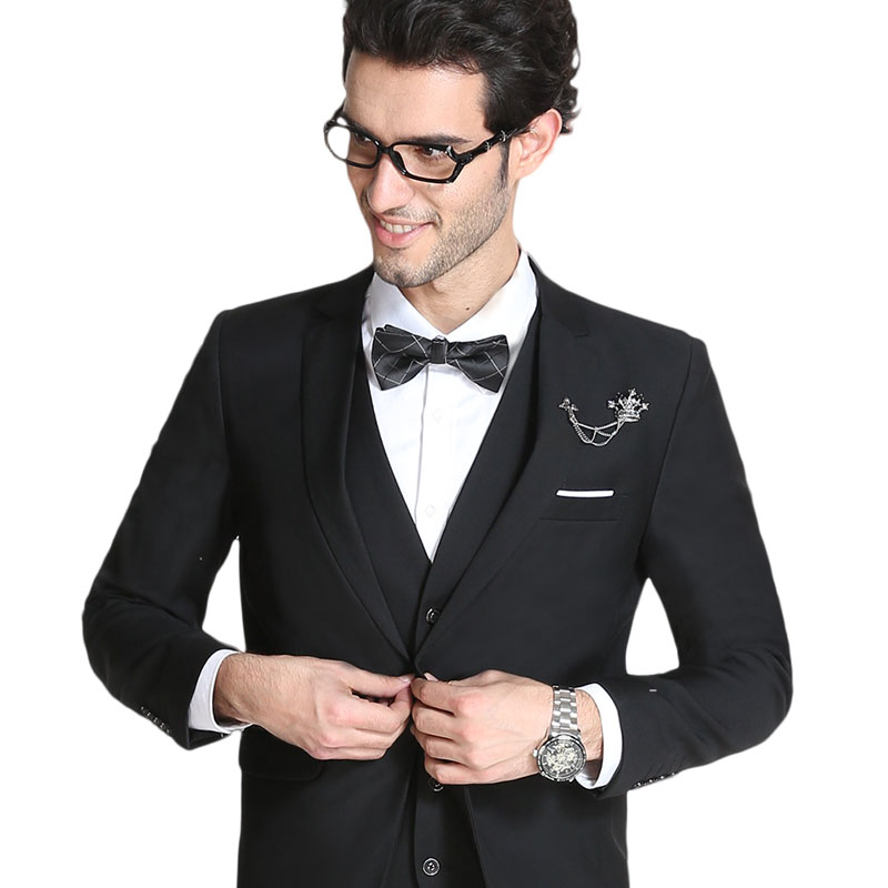 New 2016 business style work dress men suit set wedding suits for men plus  size 6xl costume homme blazer+vest+ pants  XF53 649ddd15bd48
