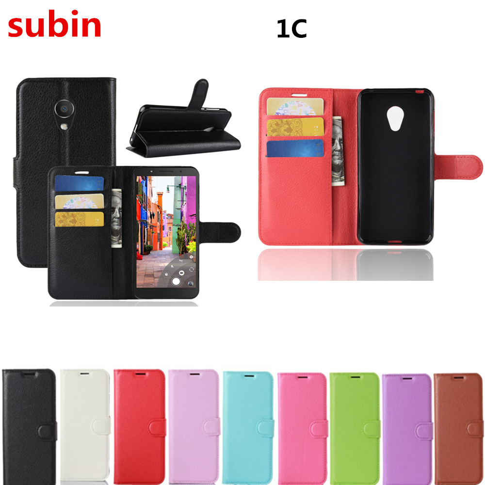 Alcatel 1C 5009A Case Wallet Style PU Leather Mobile Protective Back Cover For Alcatel 1C Dual SIM 5009D Phone Bag Cases