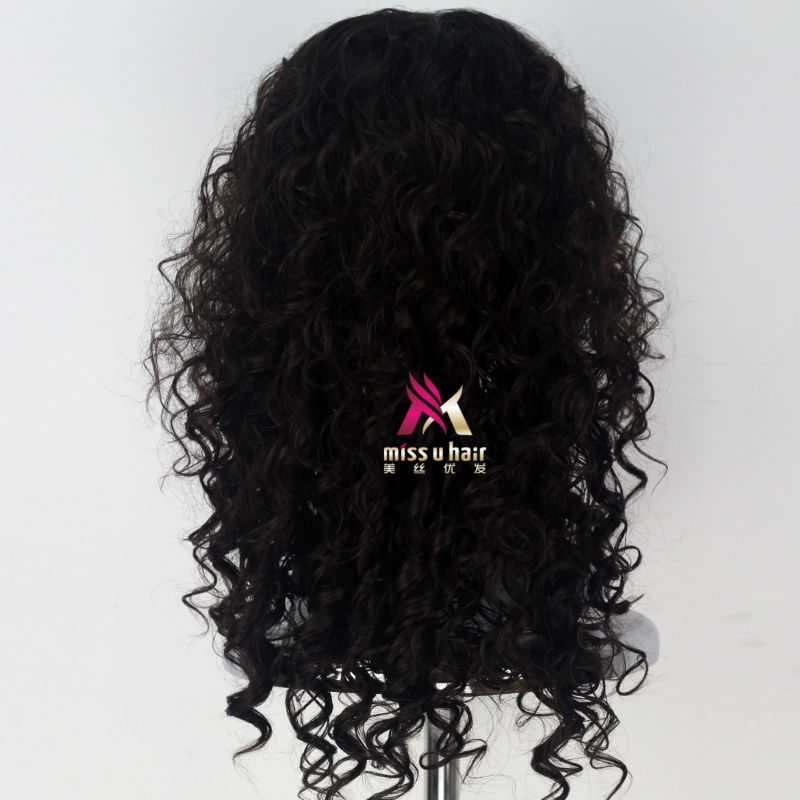 Miss U Hair Women Fluffy Long Reddish Copper Brown Black Color Curly Hair Halloween Cosplay Costume Wig Adult Synthetic None-lacewigs