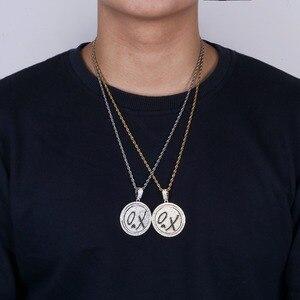 Image 4 - TOPGRILLZ جديد XO سبينر قلادة قلادة مثلج خارج الهيب هوب/الشرير الذهب الفضة اللون سلاسل للرجال تشيكوسلوفاكيا حُليات المجوهرات هدية