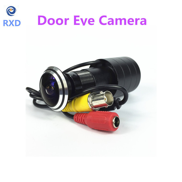 SHRXY HOTsell 170 Wide Angle CCD 800tvl Wired Mini Porta Eye Buraco Peephole Video Camera Cor DOORVIEW CCTV mini Câmera
