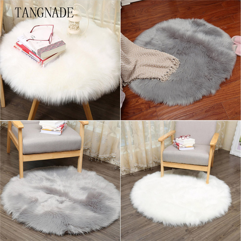 TANGNADE Soft Sheepskin Rug Chair Cover Artificial Wool Warm Hairy Carpet Bedroom Mat Seat Pad Skin Fur Area Rugs Warm RA31#F#