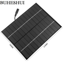 BUHESHUI 12V 5.5W Mini Solar Cell Module Polycrystalline Solar Panels With DC 5521 Bus Charging Batter System 165*210MM