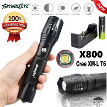 Focus X800 Tactical Flashlight LED Zoom Military Torch G700 18650 Battery Charge Bike Bicycle Accessories High Quality May 10