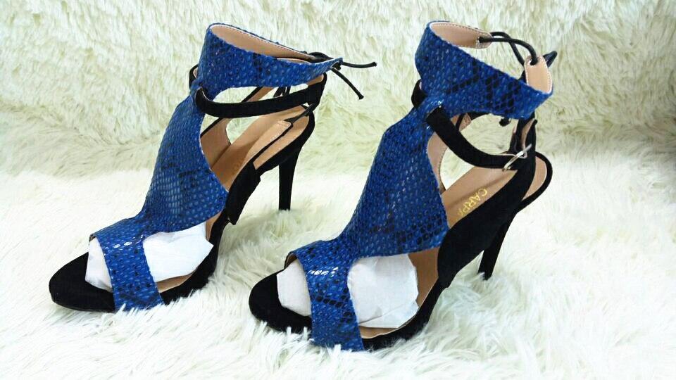 Sandales d'été, peau de serpent, Patchwork, talons hauts, chaussures Sexy pour femmes, bout ouvert, chaussures de fêtes, collection à lacets
