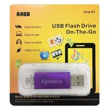 Egindisk OTG USB флэш-накопитель для Android телефон Micro USB флэш-накопитель 64 ГБ 32 ГБ 16 ГБ 8 ГБ смартфон USB Stick мобильный телефон флешки