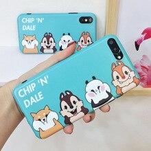 Мультфильм Бурундук чехол для iPhone 8 плюс милые животные матовая Мягкие  TPU силиконовый чехол для телефона 8c746ddf8072a