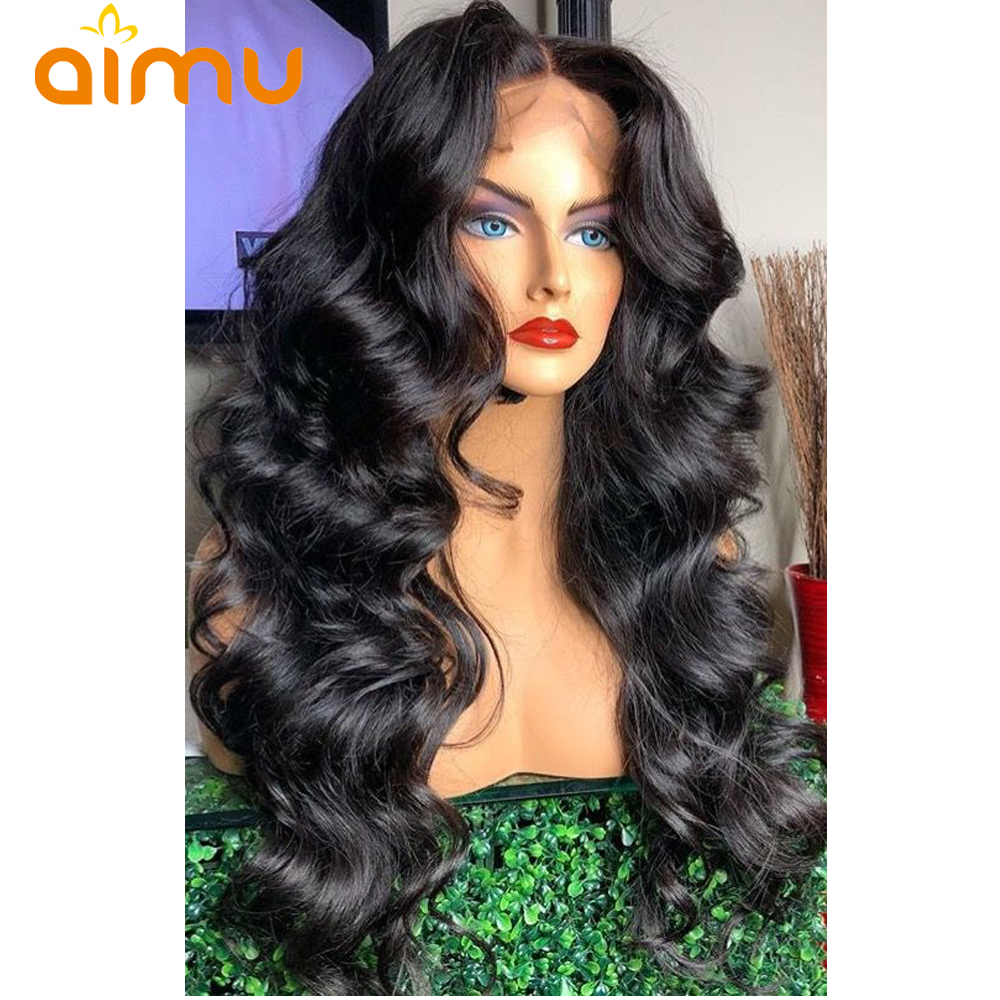 Virgin Hair Lace Wigs Wavy Human Hair Wigs 13x6 Deep Part Loose Wave Lace Front Wigs 250% Density Body Wave Lace Front Wig Aimu