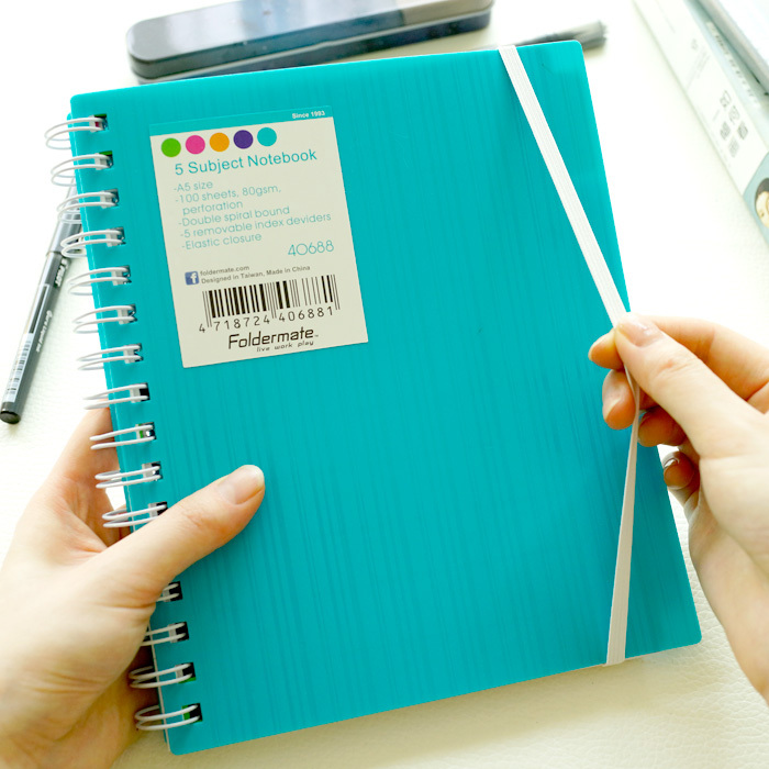 [ TAIWAN ] Creative Color Binder Category Spiral Notebook