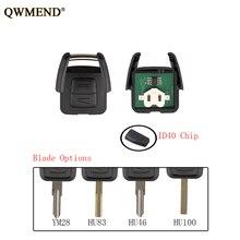 QWMEND 2 кнопки ID40 Чип дистанционного брелок для Vauxhall Opel Astra Vectra Zafira 433 МГц HU43/HU100/YM28/HU46 лезвие оригинальный ключ