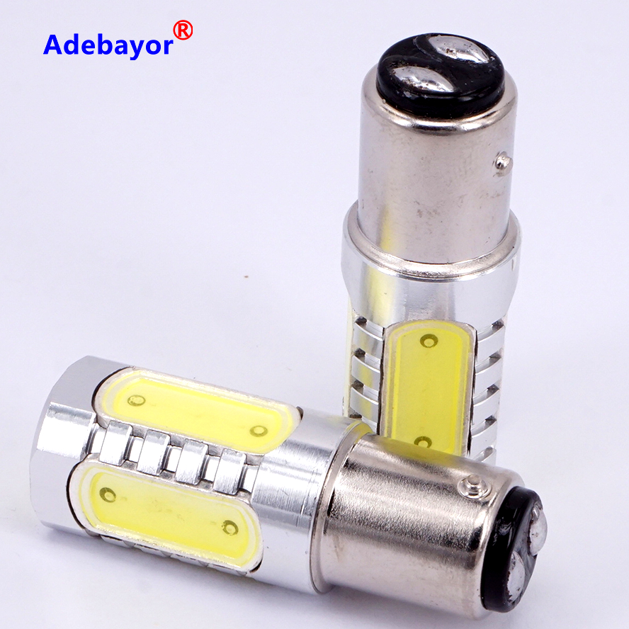 30 X 1157 baY15d P21/4W LED High Power P21/5W Car Side Tail Brake Parking double contact 7.5W Light Bulb Lamp White