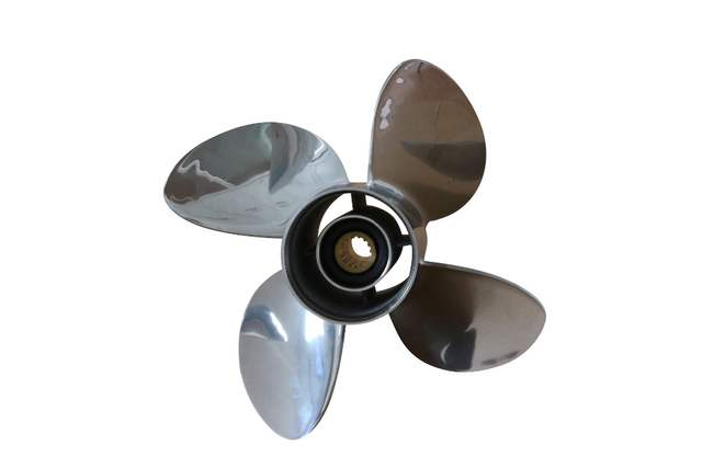 13 x 19 outboard 4 Blade Propellers STAINLESS STEEL Propeller fit to  mercury or yamaha 60-115 hp engine cheap boat motors