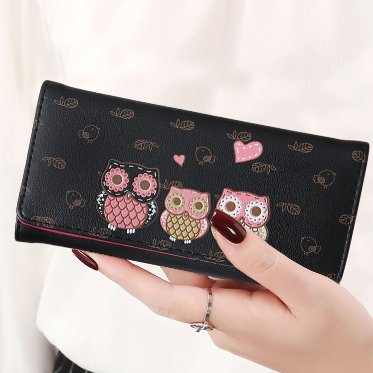 Women Wallets Cute Owl Lady Coin Purse Long Short Style Money Bags Clutch Woman Wallet Cards ID Holder Purses Bag Burse Notecase
