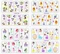 1 Hoja de Etiqueta de Transferencia de Agua de Impresión de Uñas de Arte Consejo Decoración de Uñas para Uñas Manicura Tatuajes de Dibujos Animados Con Estilo BOP144-147
