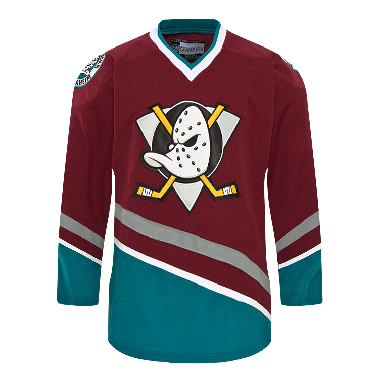 db2a0a40 sale blank anaheim mighty ducks maroon vintage hockey jersey any name and  number stitch sewn sweatshirts