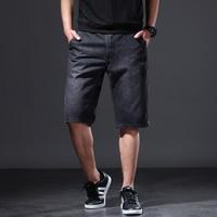 Black Summer Shorts Denim Men Short Plus Size Casual Summer Cotton Jeans Cargo Shorts Fashions Sweatpants Giyim Clothing 70DK010