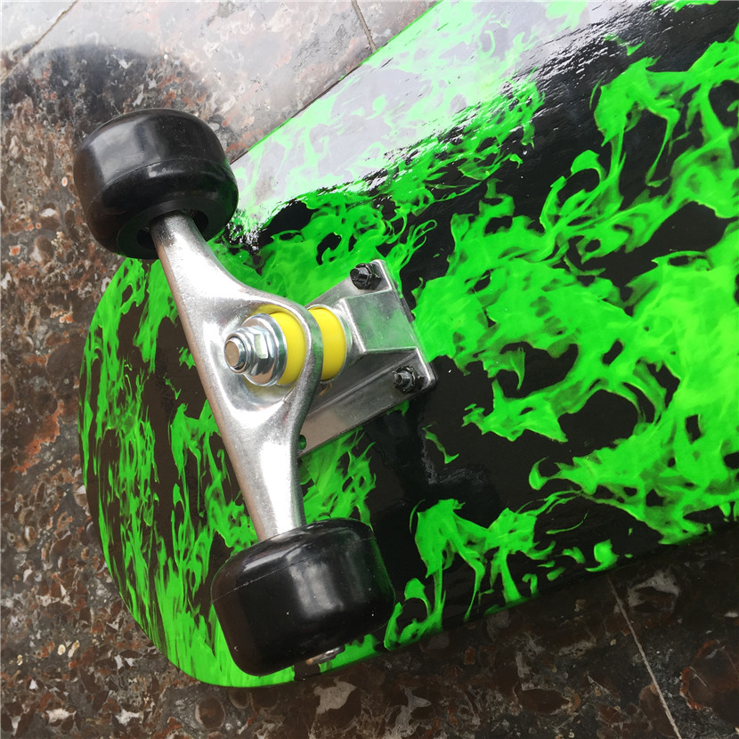 Green Forest Pattern Skateboard Complete Set With Trucks, Wheels&Bearings for Kids and New Skaters Free Shipping - 5