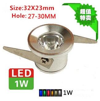10 шт./лот 1 Вт встраиваемые светодиодные светильники, светодиодный свет, мини-светодиодные светильники AC85-265V CE RoHS потолочный светильник Бесп...