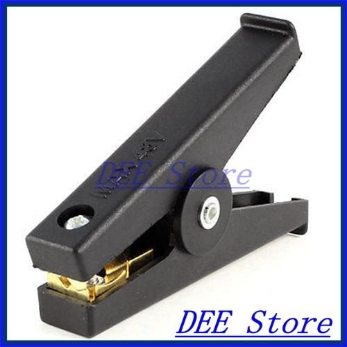 Black Plastic Insulated Boot Car Battery Test Alligator Clip Clamp 48V цены