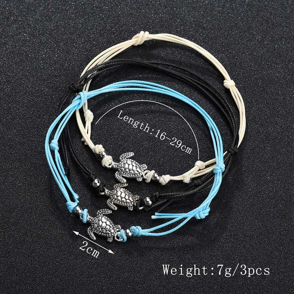 New Vintage Shell simple rope chain Sea Turtle Anklet For Women Anklet Bracelet on the Leg Handmade Jewelry Summer Charm Sandals 4
