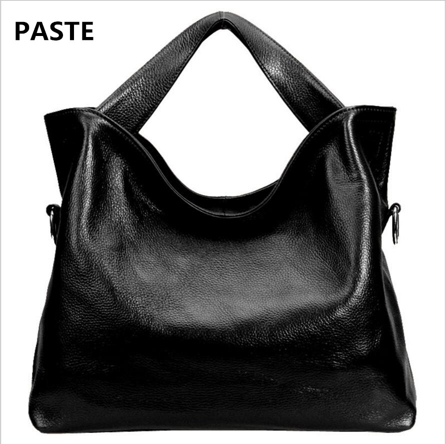 PASTE Classic female bag first layer leather handbag leather handbag fashion large capacity shoulder bag female hot handbag lady paste new leather handbags first layer of leather shoulder bag messenger bag handbag white casual bag female shoulder bag