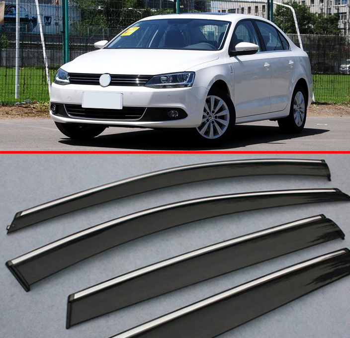 Fits 99-05 VW Volkswagen Jetta Slim Type Acrylic Window Visors 4Pc