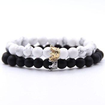 Bracelet distance couronne blanc