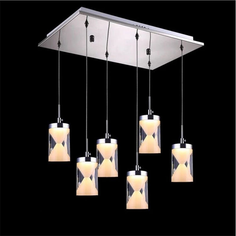 led pendant lights 9w 18w 27w ac85-265v 3-9heads restaurant lamparas Acrylic+SMD 5730 led chip Ceiling Lamp