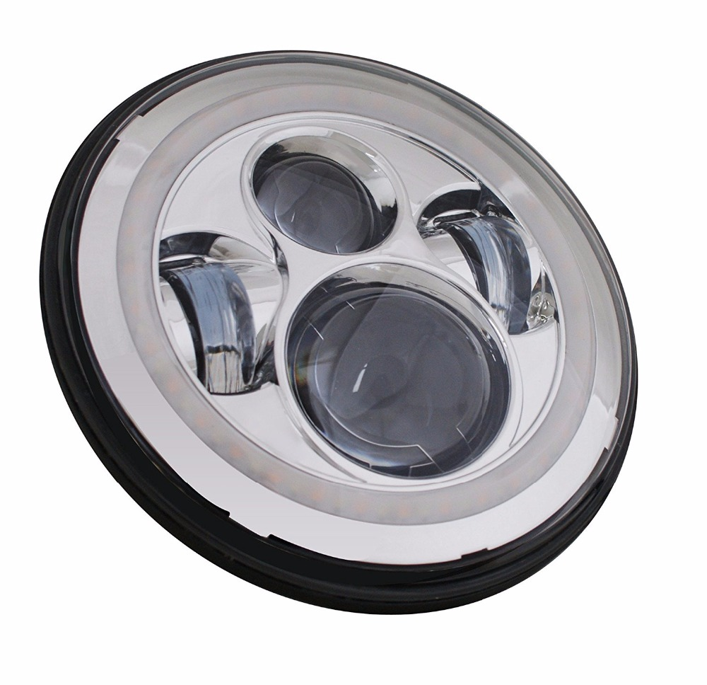 7 pollici A LED Del Faro bianco DRL, 4.5 pollici Halo Nebbia Luci, anello adattatore per Harley Touring Electra Glide Road King Street Glide - 5