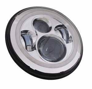 Image 5 - 7inch LED Headlight white DRL, 4.5inch Halo Fog Lights , Adapter Ring for Harley Touring Electra Glide Road King Street Glide