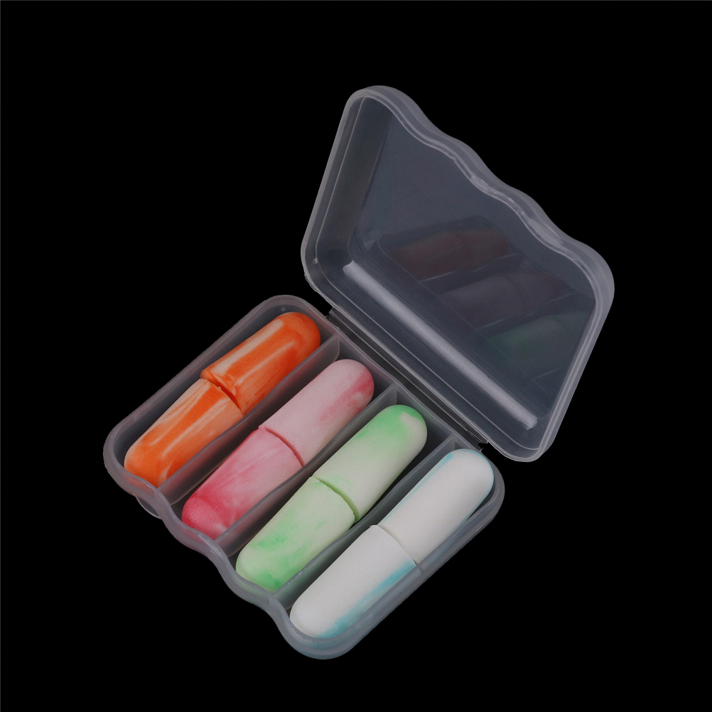 4 Pairs Soft Foam Ear Plugs Sleep Noise Prevention Earplugs Travel Sleeping Noise Reduction Hearing Protection Health Care Tool