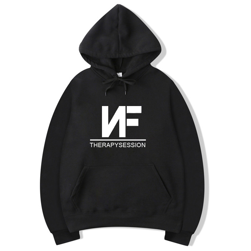 Vsenfo NF Therapy Session Hoodie Men Women Hip Hop Rapper Sweatshirt Pullover Fleece Autumn Winter Hoodies Street Style Hoody