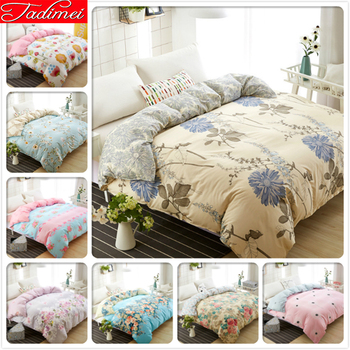 1 piece Duvet Cover Plant Floral Pattern Quilt Comforter Bedding Bag Adult Child Single Twin Queen King Big Size 180x220 200x230