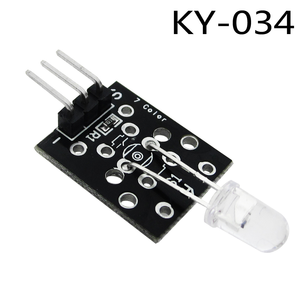 1pcs Lot Ky 034 3pin Automatically 7 Color Colour Flashing Led Meter Lcr Gm328a Test Clip For Sale Electroniccircuitsdiagrams Module Diy Starter Kit Ky034 In Replacement Parts Accessories From Consumer Electronics On