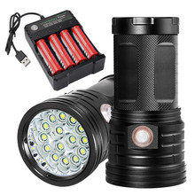 18 x Flashlig  T6 LED 3 Modes Flashlight Torch 4 x 18650 Hunting Lamp Lampe LED Camping Work light Linterna Lanterna Powerful A1 стоимость