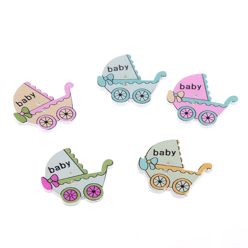 Apparel Sewing & Fabric Generous 20pcs/lot Wood Baby Car Handmade 2 Holes Wooden Buttons Sewing Scrapbooking Diy An Enriches And Nutrient For The Liver And Kidney